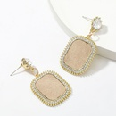 autumn and winter hot selling alloy diamondstudded acrylic artificial leather earrings  NHJE269453