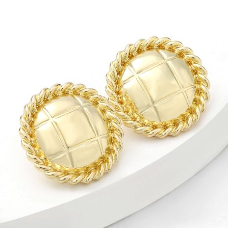 Simple alloy series stripe round retro earrings  NHJE269454's discount tags