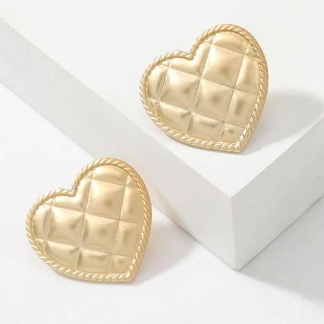 Simple Alloy Series Stripe Heart-Shaped retro Stud Earrings NHJE269455's discount tags