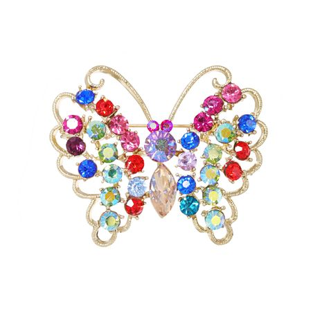 new pins alloy diamond-studded insect butterfly fashion brooch wholesale NHJJ269471's discount tags