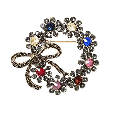 Imitation Crystal Multicolor Round Retro Garland Brooch  NHJJ269473's discount tags