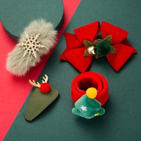 Ensemble de quatre bracelets en épingle à cheveux en flanelle Bells Antlers de la série de Noël NHLN269485's discount tags