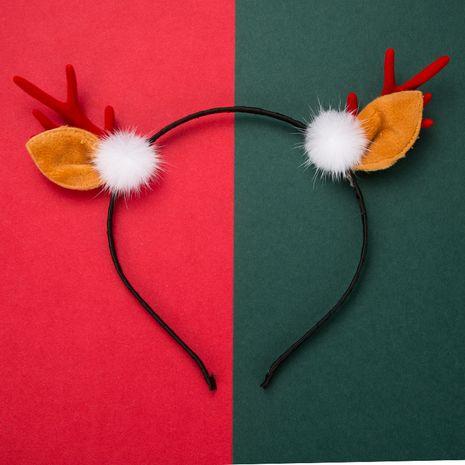 Serre-tête en bois de flanelle de résine de boule blanche de série de Noël NHLN269491's discount tags