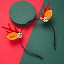 Bande de cheveux de bois de cloche en flanelle de champignons NHLN269492