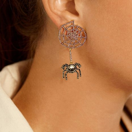 Halloween Creative Spider Exaggerated Strange Fun Insect Sexy Long Earrings NHMD269501's discount tags