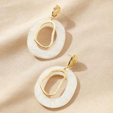 New Korean acrylic resin geometric round irregular shell earrings NHGY269551's discount tags