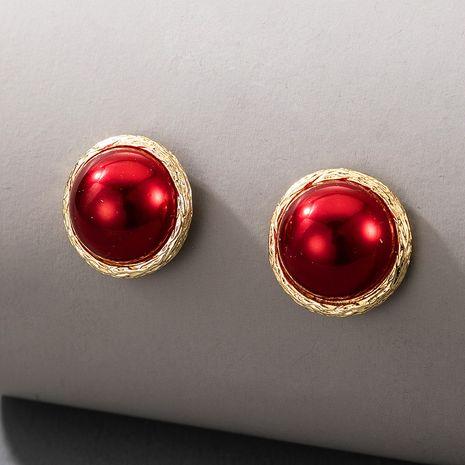 Pendientes del todo fósforo de la moda de la perla roja dulce retro coreana NHGY269555's discount tags