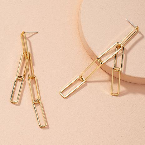 long simple geometric alloy women's chain earrings  NHAI269598's discount tags