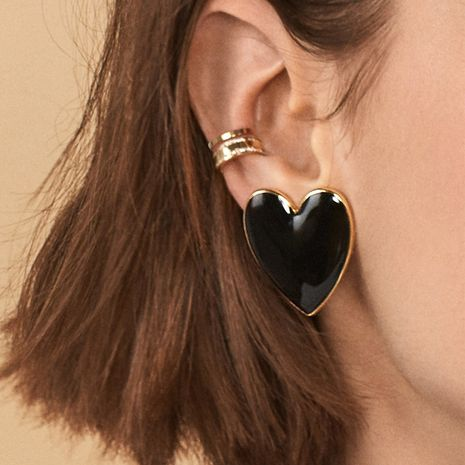 autumn and winter drip heart-shaped hot sale earrings NHGU269607's discount tags