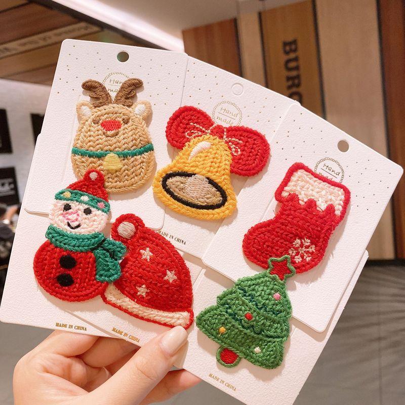 New cute little princess Santa hair clip children bangs clip  NHSA269626