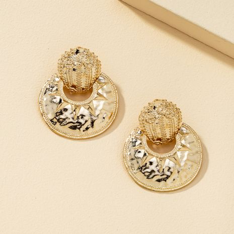 fashion metal circle exaggerated earrings  NHQJ269652's discount tags