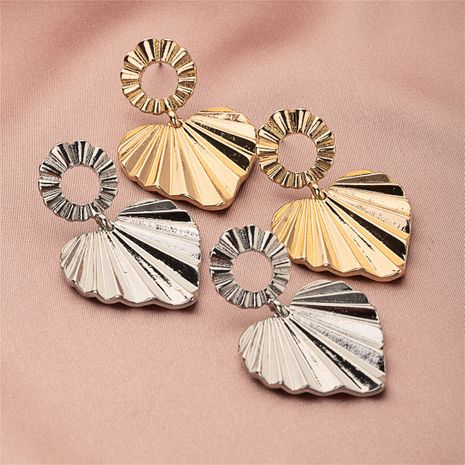 popular heart-shaped hip-hop earrings  NHQJ269670's discount tags
