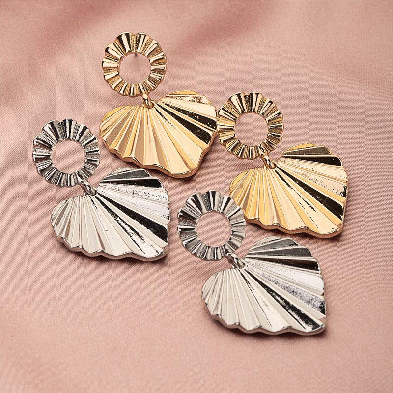 popular heartshaped hiphop earrings  NHQJ269670