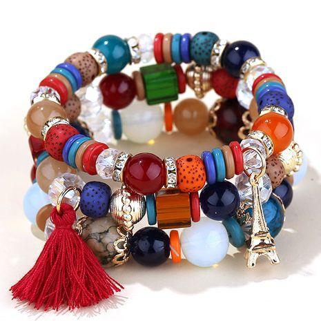 Bracelet de mode multicouche en perles de bonbons à pampilles simples NHSC270217's discount tags