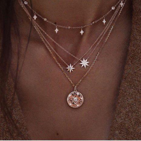 Popular fashion new full diamond starlight multi-layer necklace set wholesale  NHAJ269744's discount tags