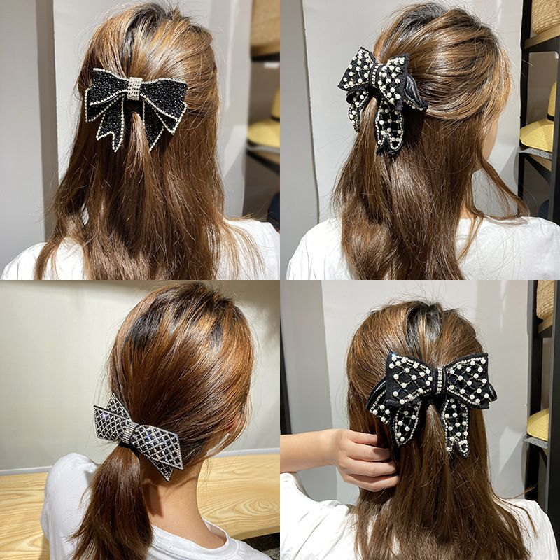 Rhinestone korean Pearl Girl Heart White Crystal Geometric  Butterfly hair clip NHWF269765