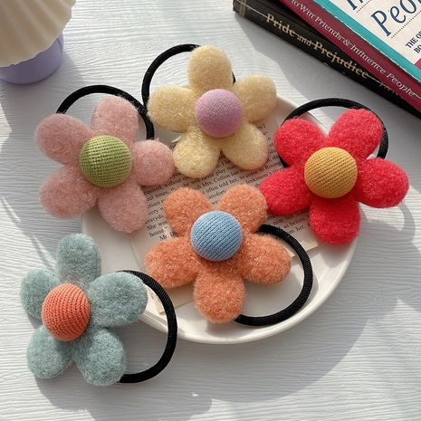 Korea  new fashion  felt flower hair scrunchies  NHCQ269770's discount tags