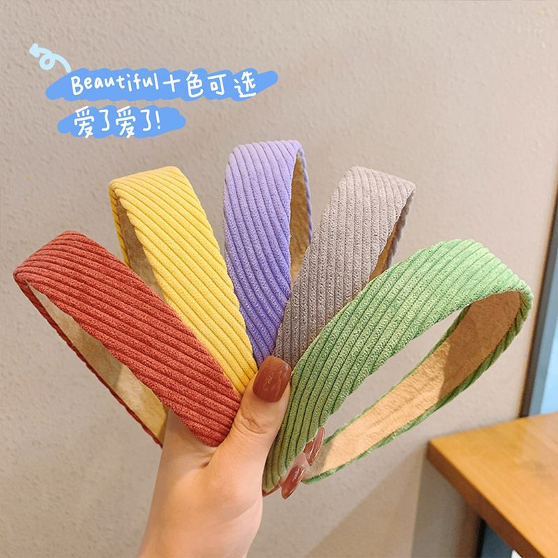 Korea new fashion  retro corduroy headband NHCQ269775