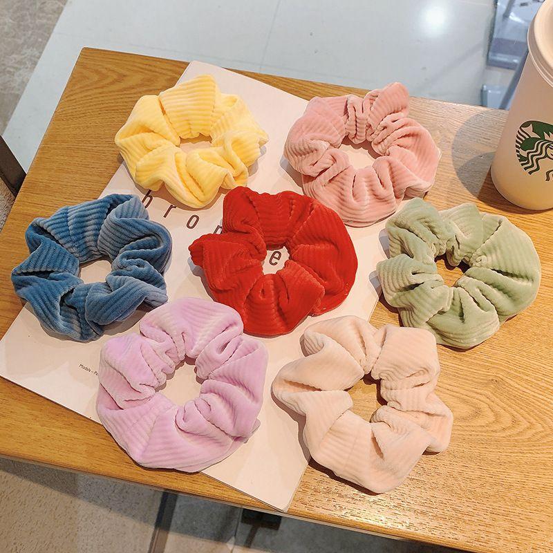 Korea new  candy color hair scrunchies  NHCQ269776