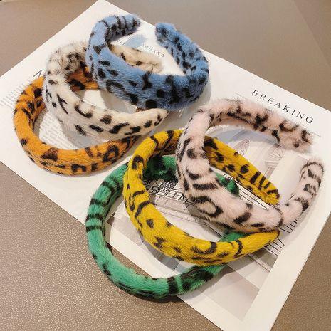 Korean new fashion  leopard print retro leopard print headband  NHCQ269780's discount tags