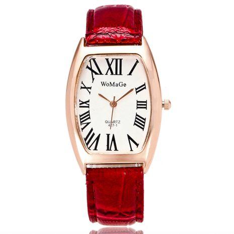 Reloj de cuarzo tipo barril de vino de escala romana de moda coreana al por mayor NHSS269793's discount tags