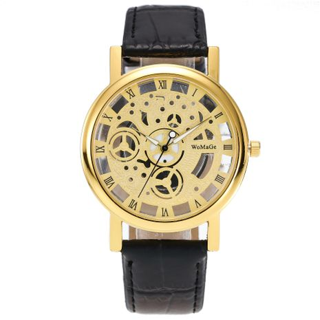 Reloj de hombre de vidrio transparente hueco de doble cara NHSS269797's discount tags