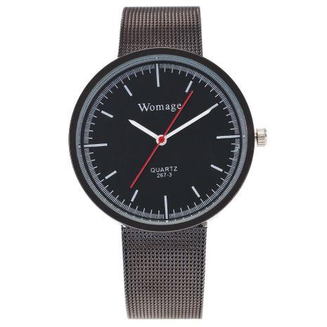 Reloj ultrafino con correa de malla de cuarzo para mujer NHSS269785's discount tags