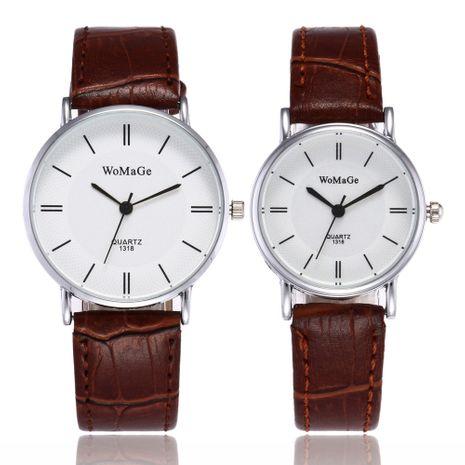 reloj simple con cinturón de PU ultrafino NHSS269801's discount tags