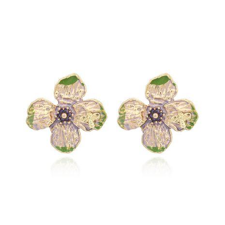 Korean fashion  dripping oil flower earrings NHRN269804's discount tags