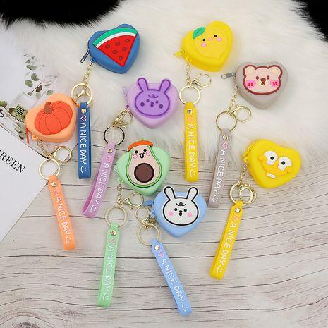 Silicone Coin Purse Bag Heart-shaped Bag Mini Cartoon Fruit Animal Kid Wallet NHAE269809's discount tags