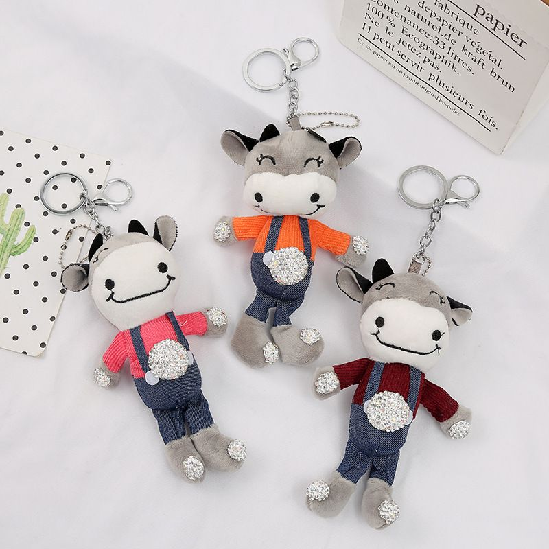 new fashion  diamond ox keychain  NHAE269815