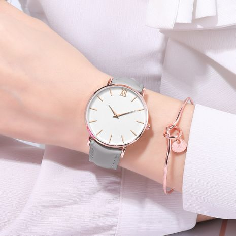 reloj de cuarzo de escala romana de aguja ultrafina de moda NHSY269832's discount tags