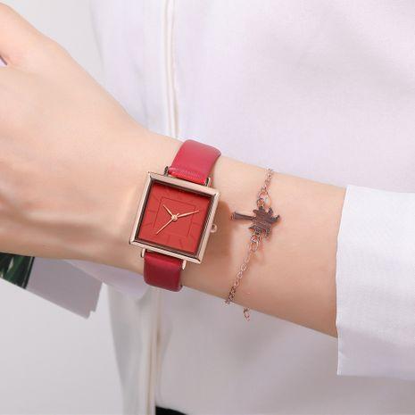 Reloj de cinturón de cuarzo cuadrado de moda NHSY269831's discount tags