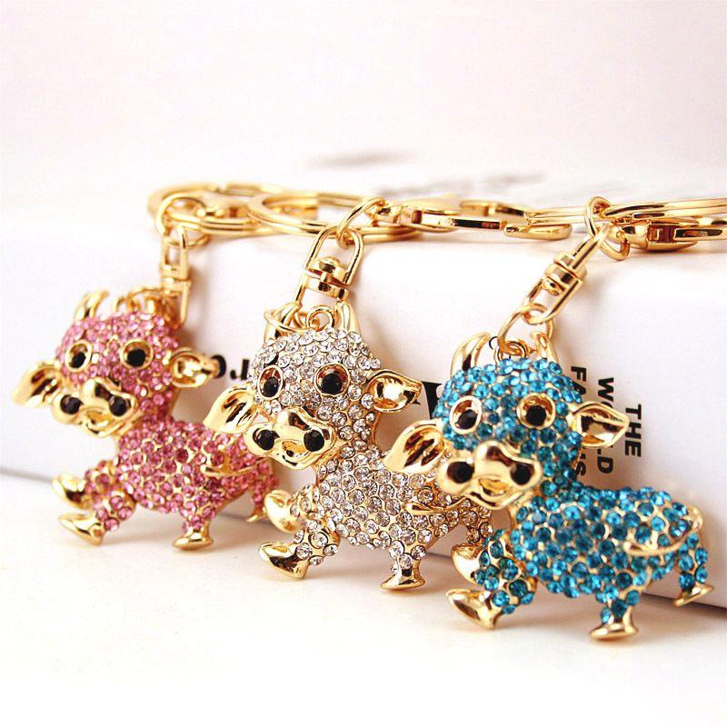Korean Cute Fashion Little Cow Keychain NHAK269843