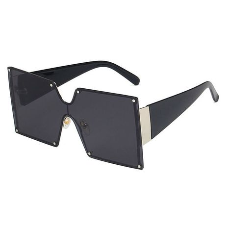 one-piece rivets new fashion square gradient sunglasses NHBA269845's discount tags