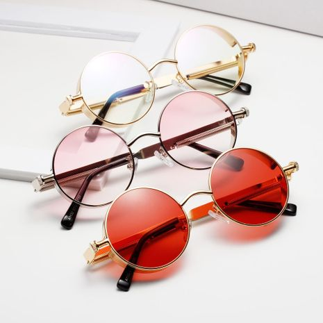 Machine Metal Punk Round Ocean Color Lenses Sunglasses NHXU269861's discount tags
