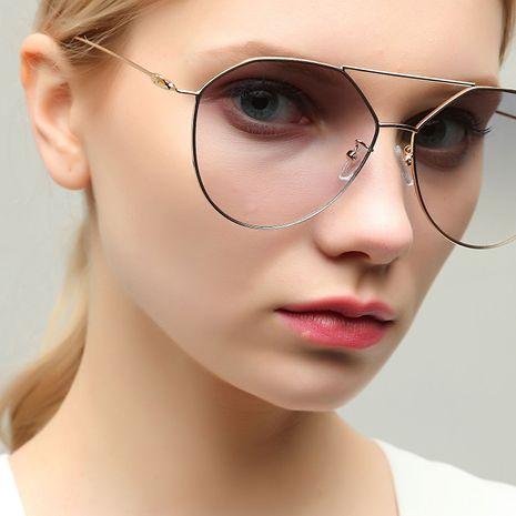 Metal Retro Popular Double Beam Ultralight Sunglasses NHXU269878's discount tags