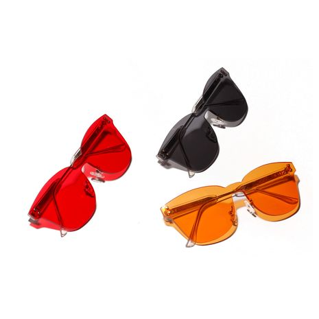 colorful Ocean Big Frame Korean Frameless Sunglasses NHXU269879's discount tags