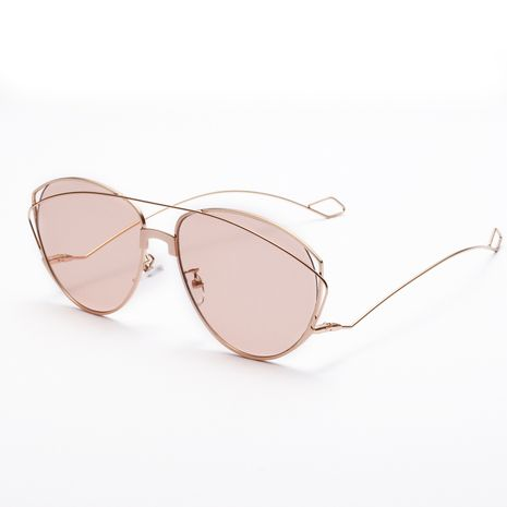 double beam retro transparent metal sunglasses  NHXU269890's discount tags