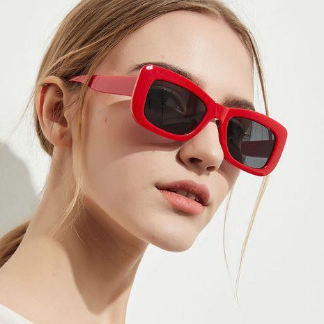 small red frame square fashion retro sunglasses NHXU269894's discount tags