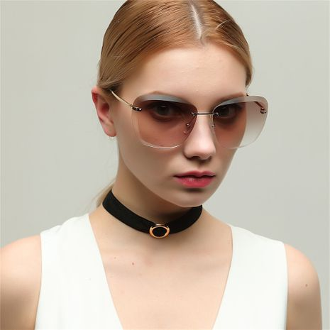 frameless full lens fashion transparent colorful sunglasses NHXU269895's discount tags