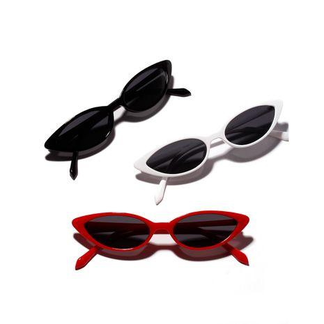 cat ears small frame retro sunglasses  NHXU269898's discount tags