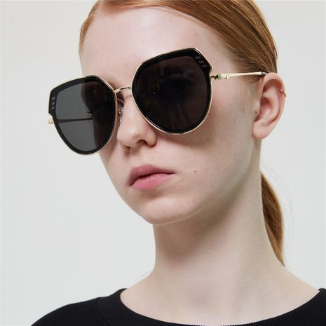 Korean semi-metal big frame fashion sunglasses NHXU269900's discount tags