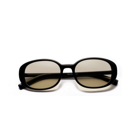 oval retro trendy black sunglasses NHXU269902's discount tags