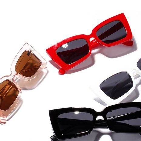 bevel square Korean retro sunglasses NHXU269903's discount tags