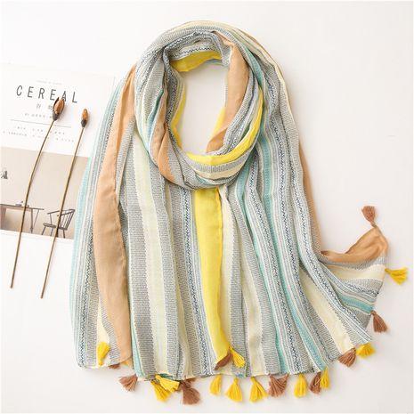 Bufanda multifuncional de la playa del protector solar del mantón del arte del algodón y del lino del estilo coreano NHGD269990's discount tags
