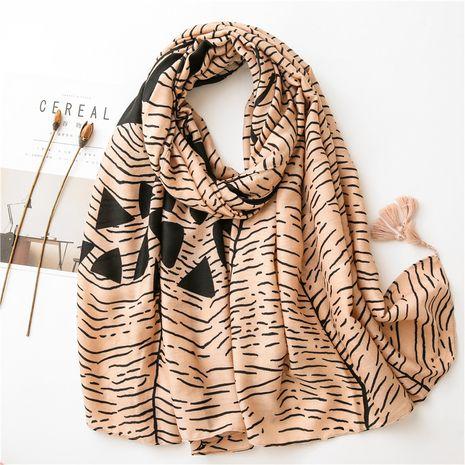 geometric art graffiti cotton and linen scarf gauze sunscreen beach towel NHGD269994's discount tags