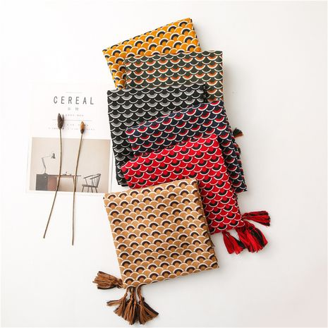 Colorful fish cotton and linen scarf women autumn and winter Korean circle stitching long shawl  NHGD270003's discount tags