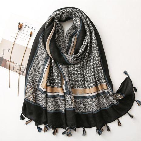 women's silk autumn and winter warm gauze scarf beach oversized shawl NHGD270004's discount tags