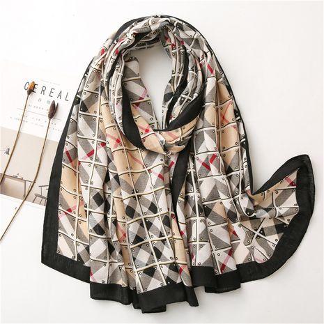 Summer Korean style women's cotton and linen fringe silk scarf gauze beach sunscreen shawl NHGD270010's discount tags